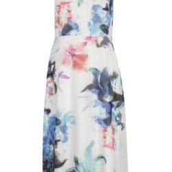 Ärmlös blommig klänning